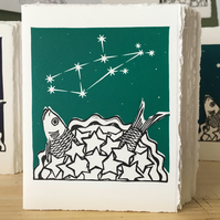 StarGazey Skies - Virgo Zodiac Birthday Card (August 23-September 22)