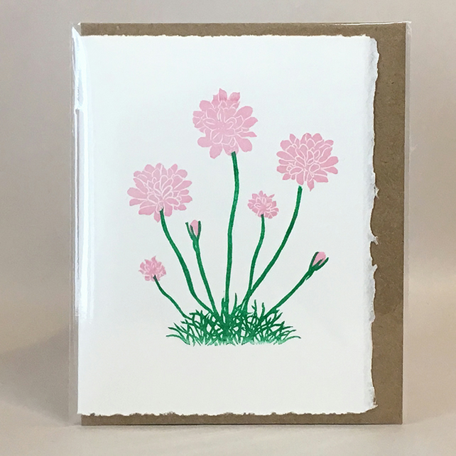 Sea pinks greetings card or notelet folksy sea pinks greetings card or notelet mightylinksfo