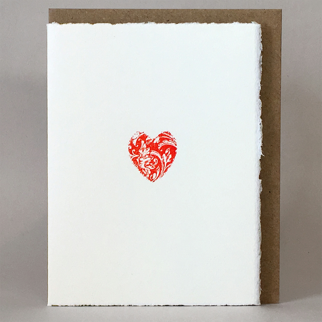 Letterpress 'Token of Love' - Anniversary or Engagement Card - Greeting Card