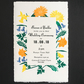 Wedding Invitation Set- HandPrinted linocut & letterpress - SAMPLE