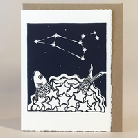 StarGazey Skies - Leo Zodiac Birthday Card (July 23-August 22)