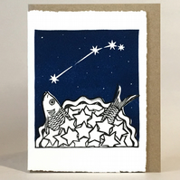 StarGazey Skies - Aries Zodiac Birthday Card (March 21-April 19)