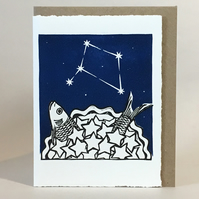 StarGazey Skies - Libra Zodiac Birthday Card (September 23-October 22)