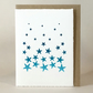 Star 'Snowfall' Christmas Card - Original Hand Printed Letterpress Xmas Card