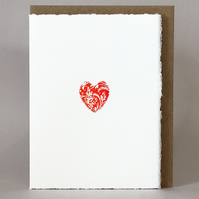Letterpress 'Token of Love' - Engagement, Anniversary or ValentinesCard