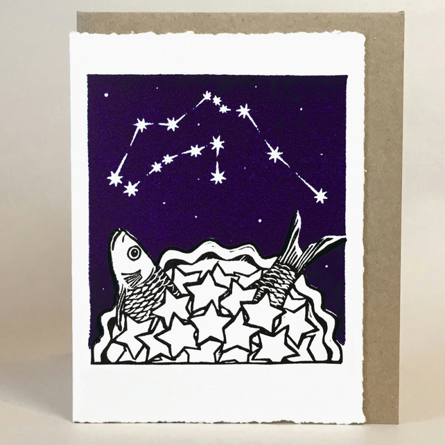 StarGazey Skies - Aquarius Zodiac Birthday Card (January 20 to February 18)