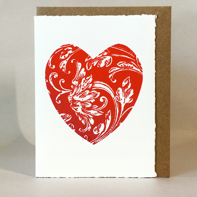 Love Heart - LinoCut Card