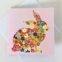 Pack of 5 cards - Spring bunny rabbit design