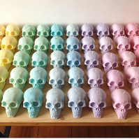 Skull candles - set of three - 100% soy-wax - your choice of colour & scent!
