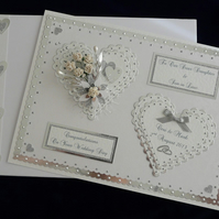Large Wedding Day Card for Son, Daughter, Friends etc Personalised