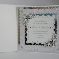 Wedding Day Card Son Daughter Granddaughter Grandson etc with box Personalised