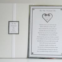 Wedding Poem To Son with Presentation Box Personalised
