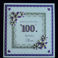 100th Birthday Card Personalised