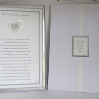 Wedding Poem To Daughter with Presentation Box A4 Size