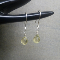 Citrine drop silver earrings
