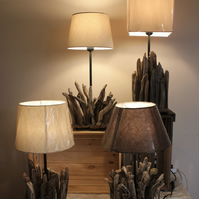 Driftwood table lamps