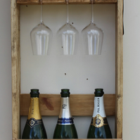 6 bottle wine & champagne rack