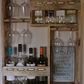 8 bottle & 6 glasses wine rack