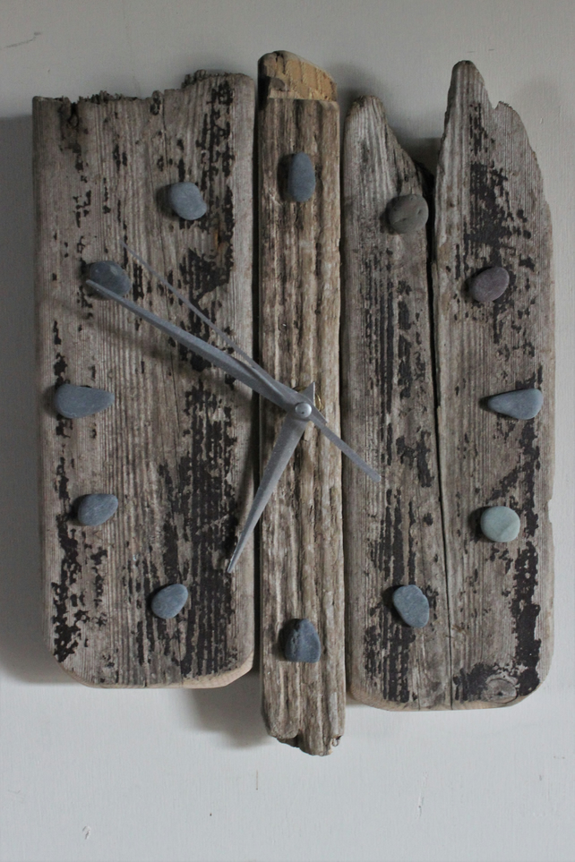 Driftwood wall clocks