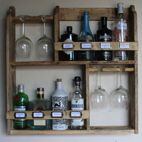 Gin rack, 8 bottles & 4 goblet glass's rack
