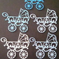 Baby blue boy pram die cuts