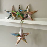Peter Pan Set of 4 Fold-out Origami Paper Stars