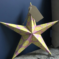 Origami folding star Greeting card alternative