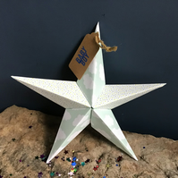 Hand made fold-out origami star - greeting card alternative