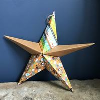 Hand made fold-out origami paper star - greeting card alternative