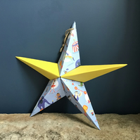 Hand made fold-out origami star & greeting card alternative