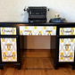 Vintage retro desk hand painted