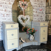 Dressing Table Hand painted shabby chic