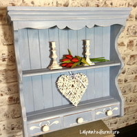 Pretty pine wall unit Hand painted shabby chic