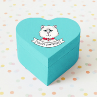 Purrrfect kitten box,hand illustrated,kitty cat,storage box,perfect gift