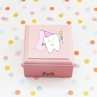 Hand painted personalised tooth fairy box,toothfairy,tooth box,girl trinket box