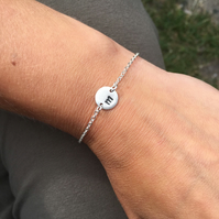 Personalised Sterling Silver Bracelet - Your Own Initial