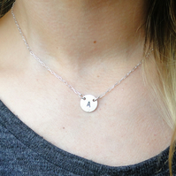 Personalized Stelring Silver Necklace - Your Own Initial