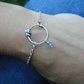 Lucky Elephant Sterling Silver - Bracelet with Aquamarine