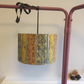 Lampshade 30cm diameter made from original 1950s fabric in Autumnal colours