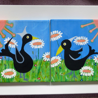 Black Bird Painting - Day
