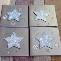 Wood Christmas Star Christmas Card