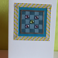 Woven Paper Greetings Cards - Red and Blue Options