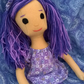 Compañera Ragdoll - Lillie 100% Wool Felt Companion Rag Doll Girl Luxury Gift