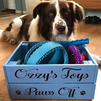 Dog Toy Box Crate - Personalised Dog Toys,  gift for dogs