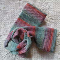 Handmade Merino Wool Socks SIZE: 7-9 UK, 9-11 US, 39-42 EURO pinks and blues