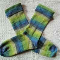 Handmade Merino Wool Socks SIZE: 4-6 UK, 6-8 US, 36-38 EURO