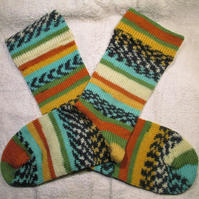 Hand made socks,size 4-6 UK, wool mix, unisex,special socks for special people,