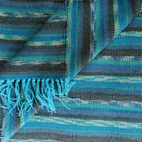 Hand Woven  Bamboo and Merino Wool Scarf