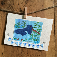 "Oystercatcher Greetings Card - ""Birthday!"""