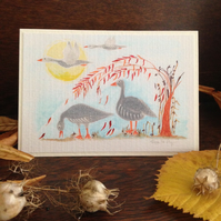 Time To Fly.. Greetings Card with envelope